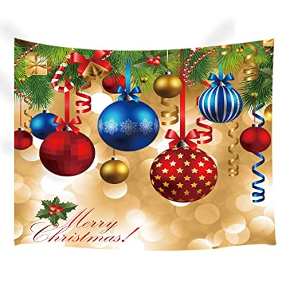 NYMB New Year Wall Art Home Decor Colorful Christmas Balls Hang On Pine Tree With
