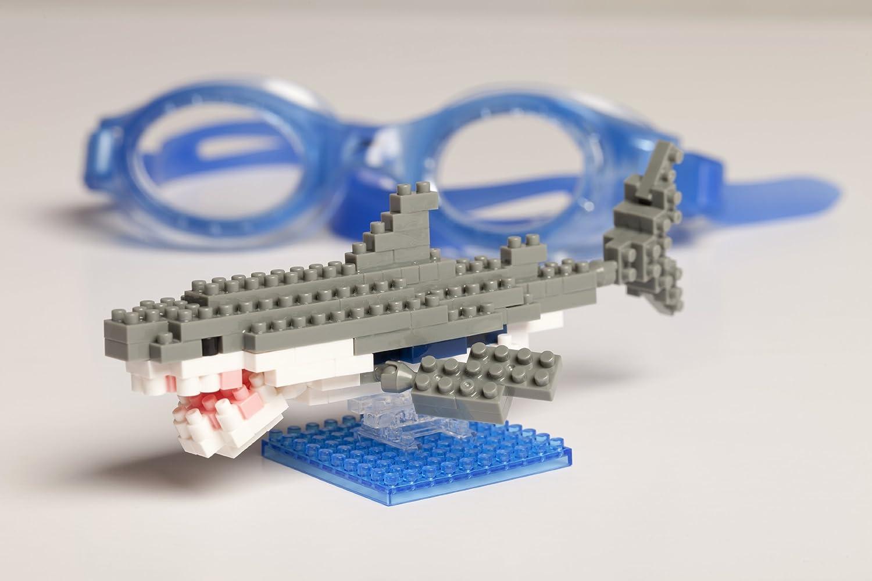 amazon com nanoblock great white shark toys u0026 games