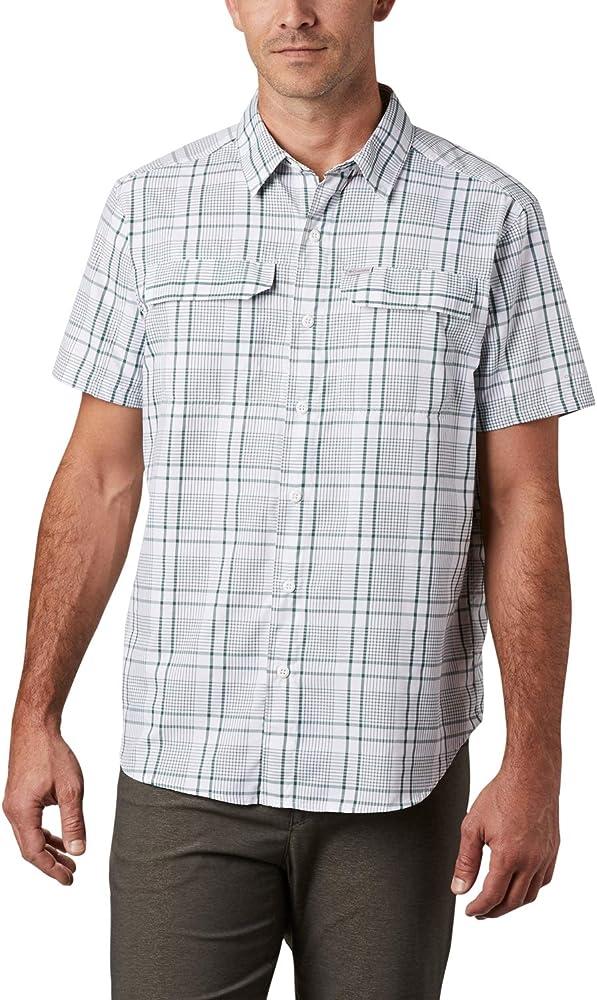 Columbia Silver Ridge 2.0 Camisa de Cuadros de Manga Corta, Hombre ...