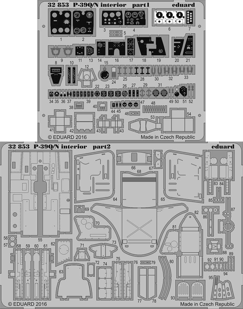 Eduard Photoetch 1:32 - P-39Q/N Interior (KH32013)