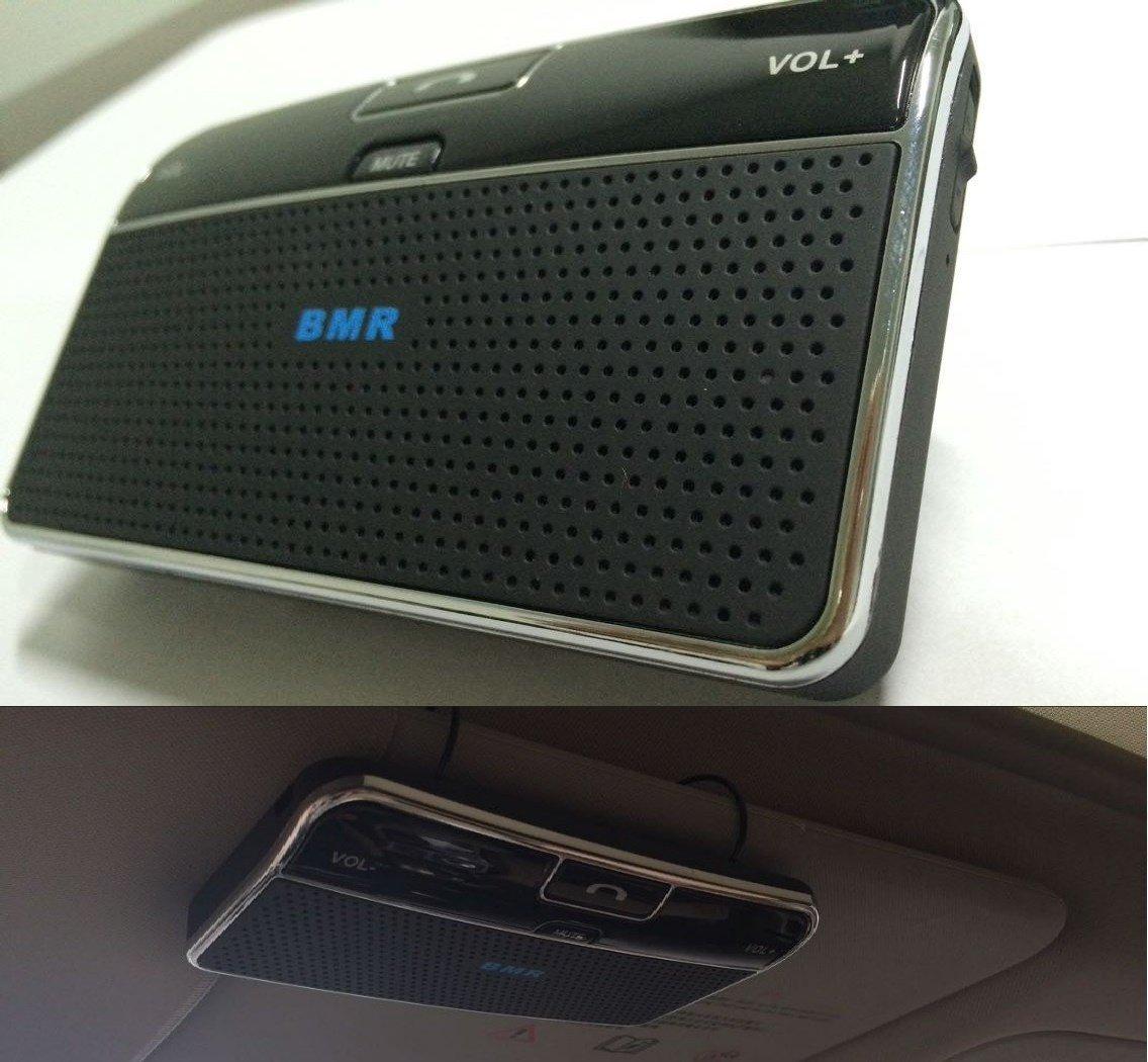 BMR Bluetooth Visor Handsfree Two-Speaker Speakerphone Car Kit For IPhone, Samsu