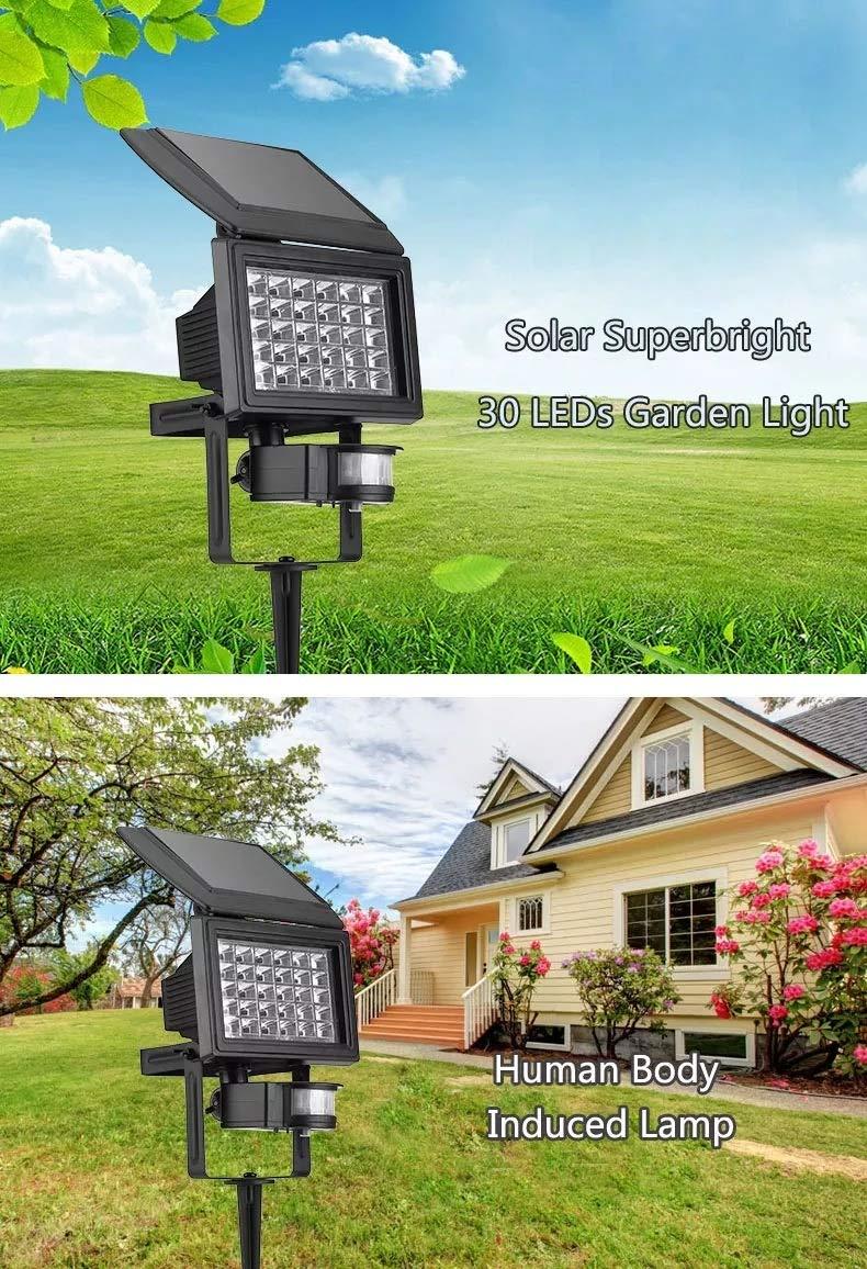 Solar Light Sensor Security Garden Light PIR Motion Sensor Path Wall Lamps Outdoor Emergency Lamp Security Lights Safety