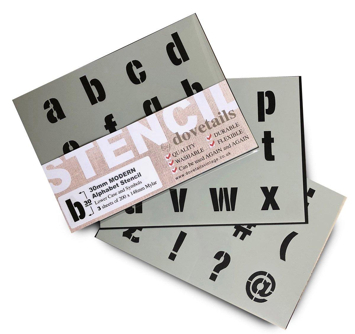 Alphabet Stencil Letter 30mm Tall Plus Symbols (1.18