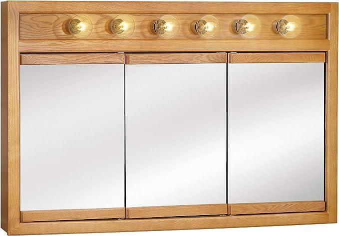 Amazon Com Design House 530626 Mirrors Medicine Cabinets 48 Nutmeg Oak Home Improvement