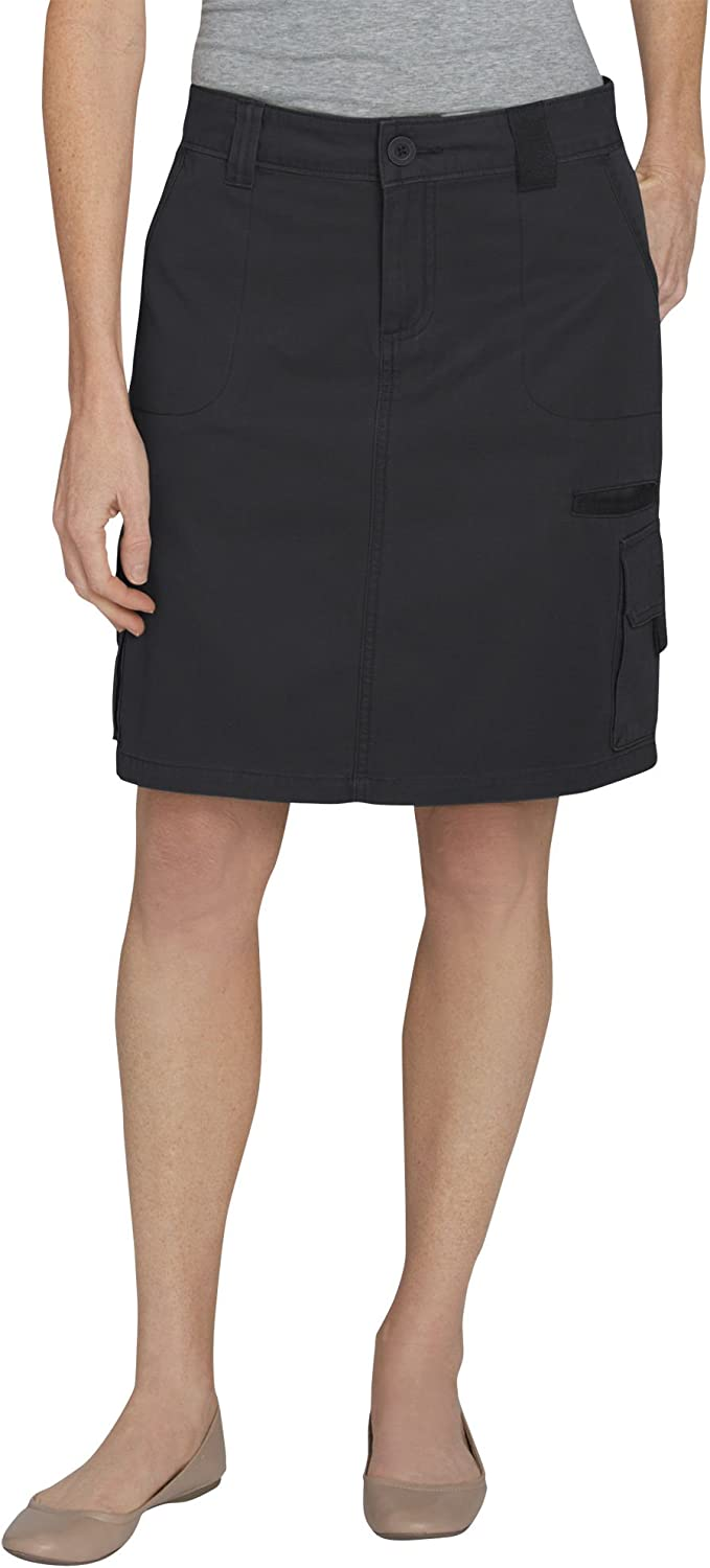 New Dickies Women/'s Cargo Skirt Black Size 4