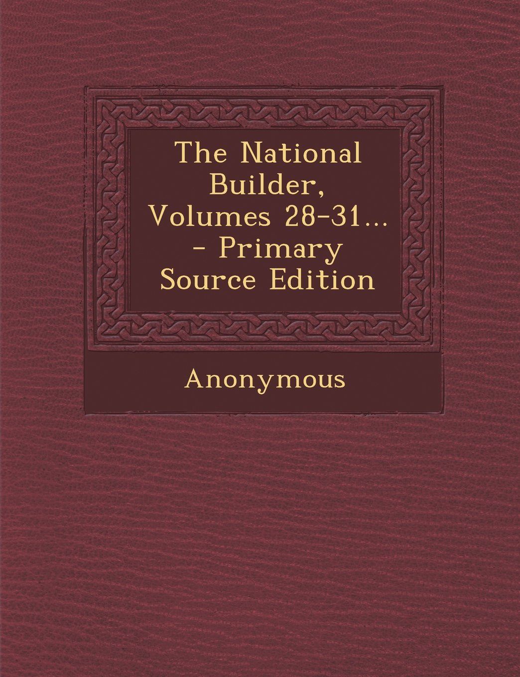 The National Builder, Volumes 28-31... pdf epub