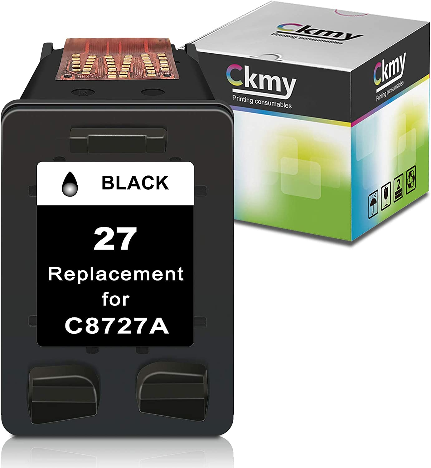 CKMY Remanufactured 27XL Ink Cartridge Replacement for HP 27 XL Used for DeskJet 3520 3650 3845 3550 3420 3745 3847 3320 3740 OfficeJet 5610 4315 5600 4255 PSC 1315 1310 2200 Printer (1 Black)