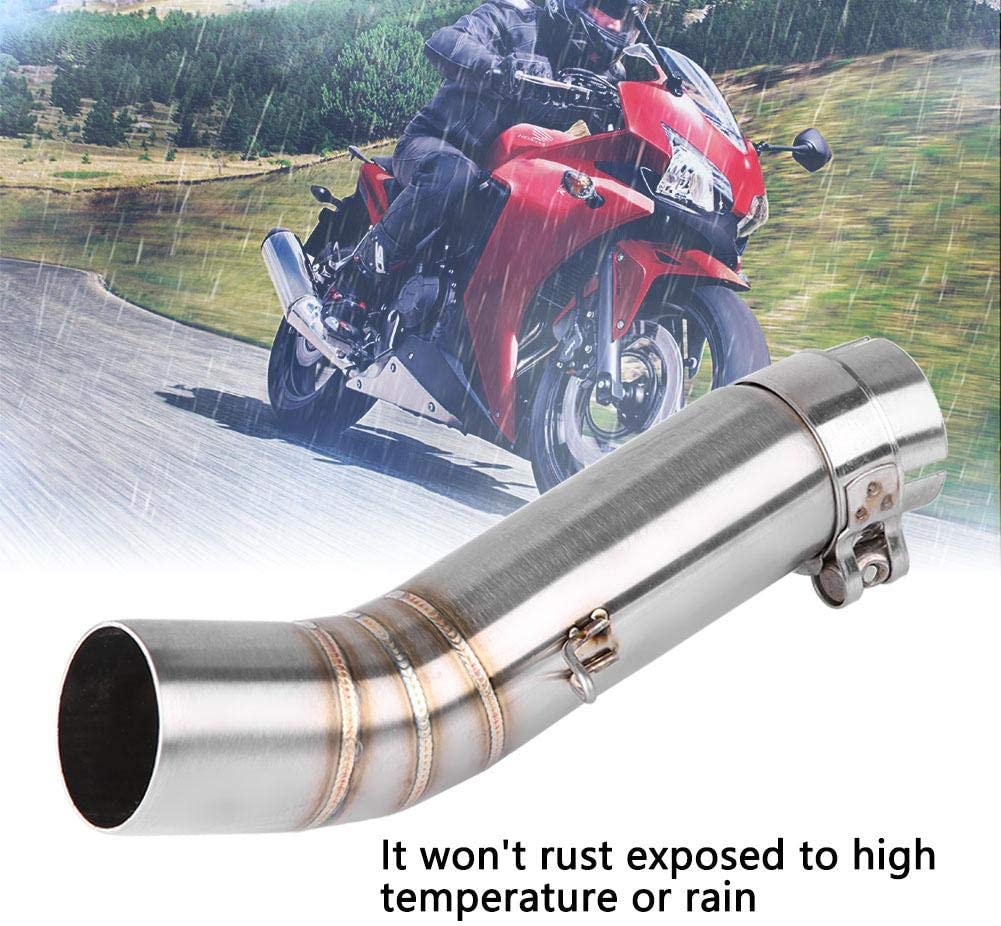 Motorcycle Exhaust Pipe Stainless Steel Exhaust Mid Link Pipe Connect for Honda CBR500R CB500X CBR400R CB400X