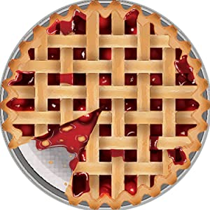 Cherry Pie Magnet Decal for Car Locker or Refrigerator, 5 1/2 Inches