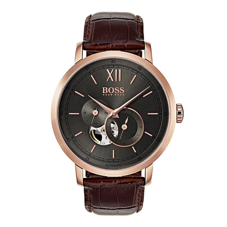[ヒューゴボス]HUGO BOSS 腕時計 Signature Timepiece Watch Brown 44mm Stainless Steel 1513506 メンズ [並行輸入品] B077N9HPD2