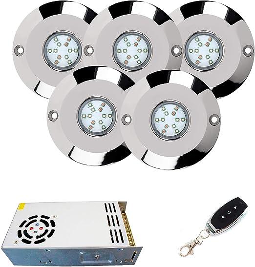 Warmpool Pack Foco LED 60W Luz Blanca de Superficie para Piscina ...