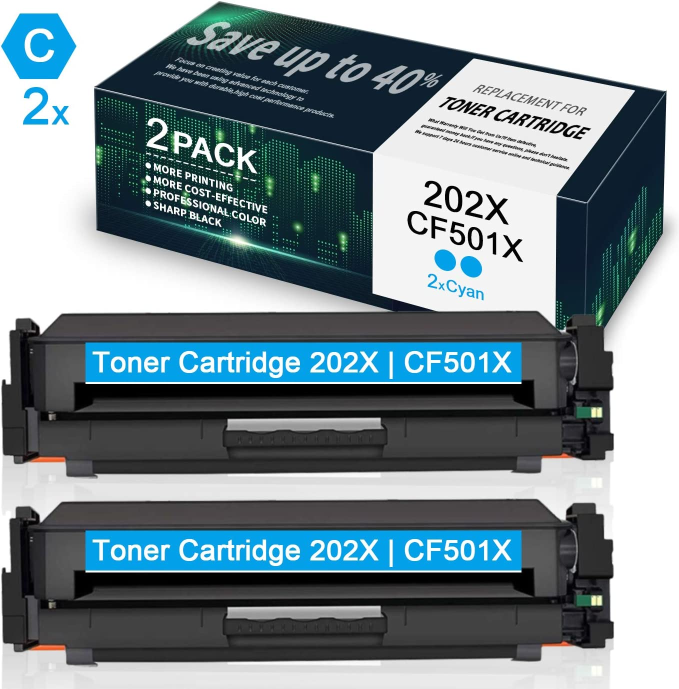 CF503X Toner Cartridge Compatible for HP Color Laserjet Pro M254nw M254dw M254dn MFP M280nw M281fdn M281fdw M281cdw 4 Pack High Yield Magenta 202X by VaserInk