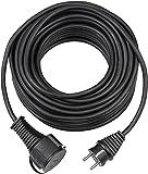 Brennenstuhl Qualitäts-Gummi-Verlängerungskabel (5m, IP44, Kabel für außen) schwarz
