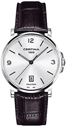 Certina DS Caimano - Reloj (Reloj de Pulsera, Masculino, Acero, Plata,
