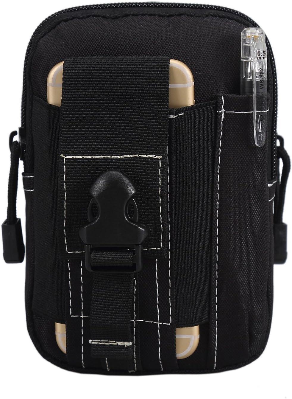 K-Star compacto multifunción táctica Smartphone Negro Funda MOLLE EDC Pack de seguridad Carry Case bolsa cinturón cintura bolsa Gadget bolsillo dinero para iPhone 6plus