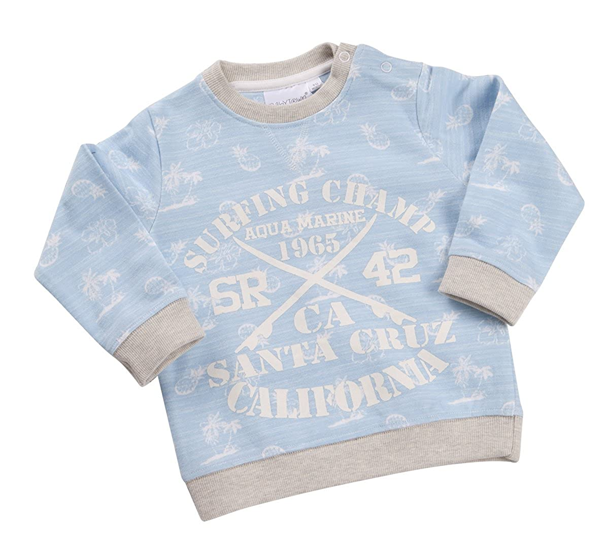 BABYTOWN Baby Boys Surf Theme Sweater Sweatshirt Top