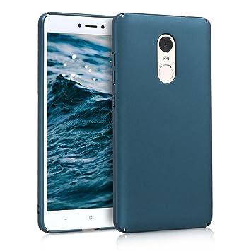 kwmobile Funda para Xiaomi Redmi Note 4 / Note 4X - Carcasa [rígida] y [Antideslizante] para móvil - Cover en [petróleo Metalizado]