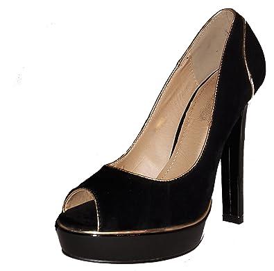 6ebd2a6c27bb 3-W-Hohenlimburg Stiletto Pumps High Heels Peep Toe, Damenschuhe, PHH141,
