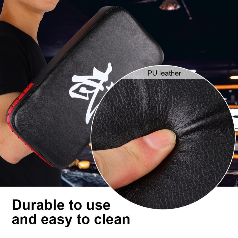 Sugoyi Fu/ßziel strapazierf/ähiges PU-Leder Fu/ß Handziel-Schlagpolster f/ür das Kickbox-Training