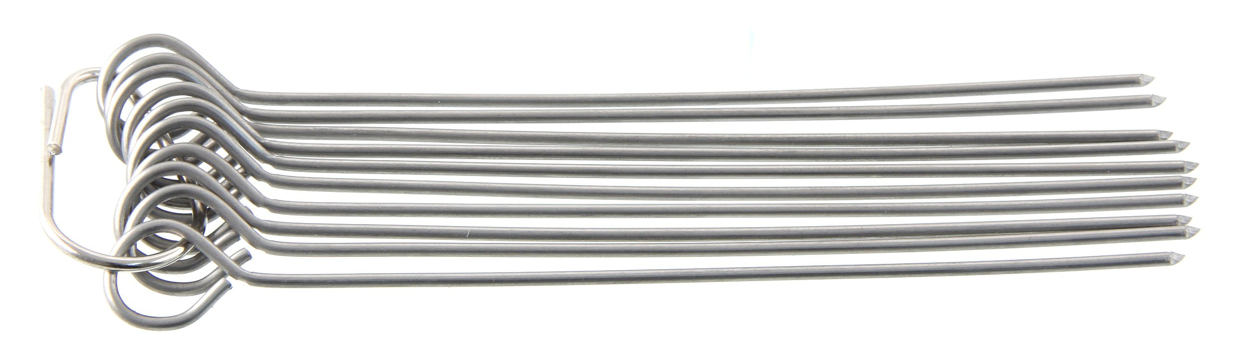 Fackelmann Rouladen Needles, Meat Needles, Metal Skewers, Cocktail Skewers Made Stainless Steel (Colour: Silver), Quantity: 10 Pieces