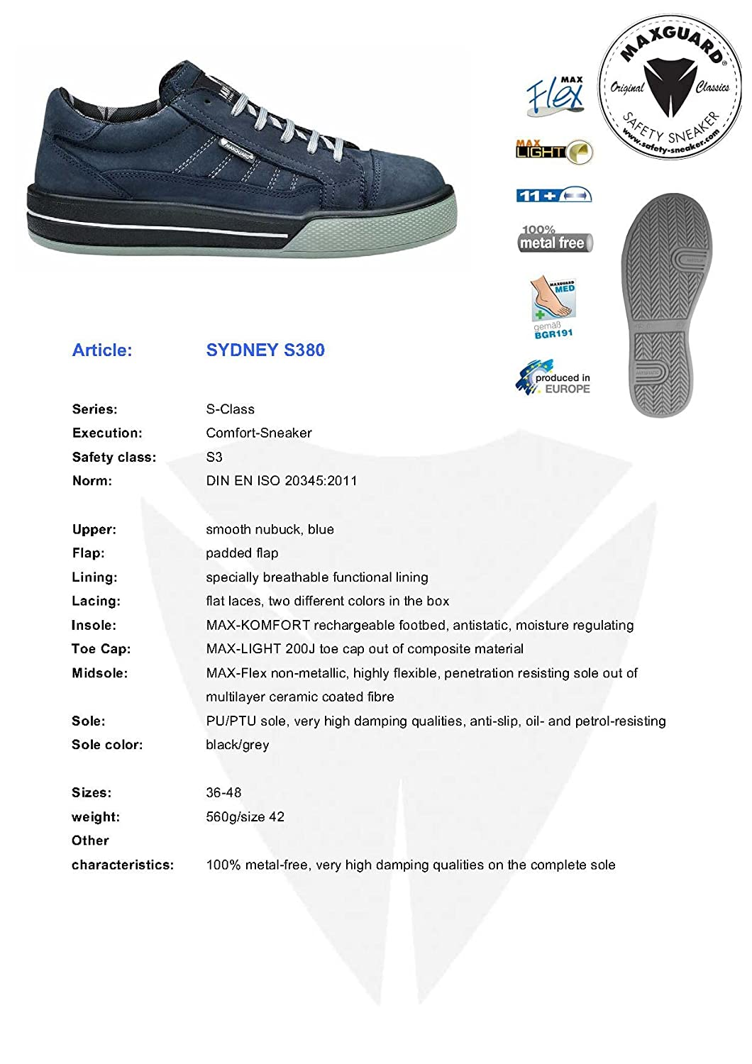 Maxguard Mens Sydney S380 Safety Shoes