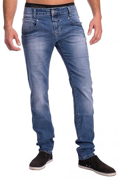 Jeans de Mezclilla elásticos clásicos para Hombres H1528 ...