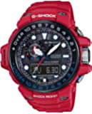 Casio G-Shock Gulfmaster Black Dial Red Resin Quartz Men's Watch GWN1000RD-4A