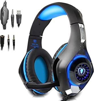 PECHAM 3.5mm Gaming Headset para PlayStation 4, Xbox One, PC ...