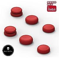 Skull & Co. Skin, CQC and FPS Thumb Grip Set Joystick Cap Analog Stick Cap for Nintendo Switch Joy-Con Controller…