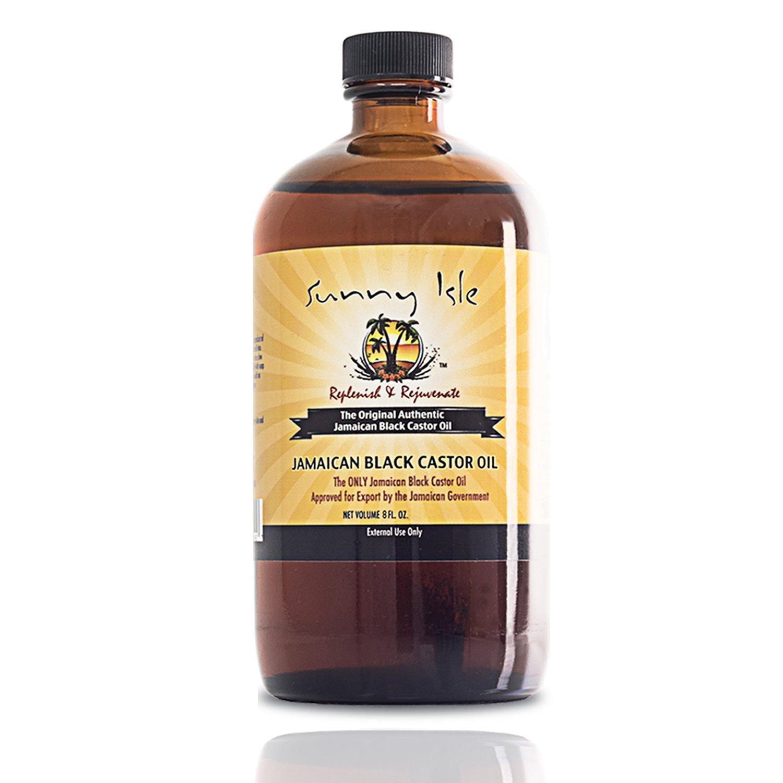 Sunny Isle - Aceite de ricino negro de Jamaica de 200 ml con saco ...