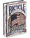 Bicycle American Flag Deck Poker Size Standard Index Playing Cards, American Flag Deck