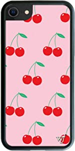 Wildflower Limited Edition Cases Compatible with iPhone 6, 7, 8 or SE (Pink Cherries)