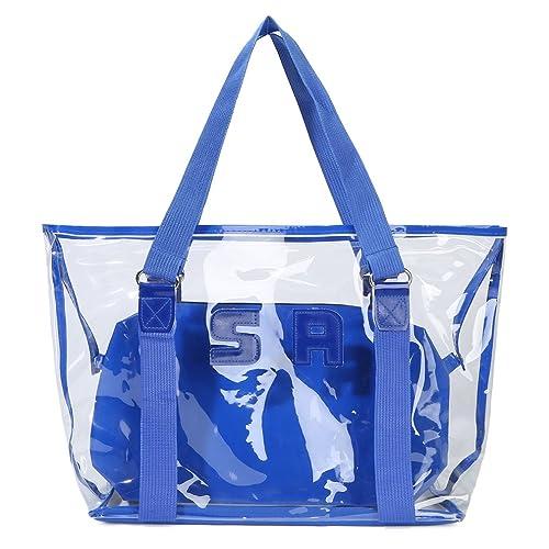 Amazon.com  Sumerk 2 in 1 Large Clear PVC beach bag 2af07b9dd4544