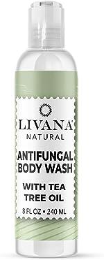 Antifungal Soap with Tea Tree Oil by Livana,8oz Treat & Wash