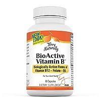 Terry Naturally BioActive Vitamin B - 60 Vegan Capsules - Vitamins B-12, B-6 & Folate...
