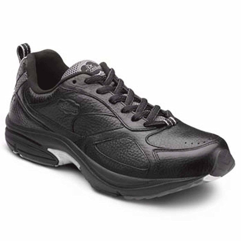 Dr. Comfort Winner Plus Men's Therapeutic Diabetic Extra Depth Shoe Leather Lace B00IOT3RWW -7.5 Wide (E/2E) Black Lace US Men Black