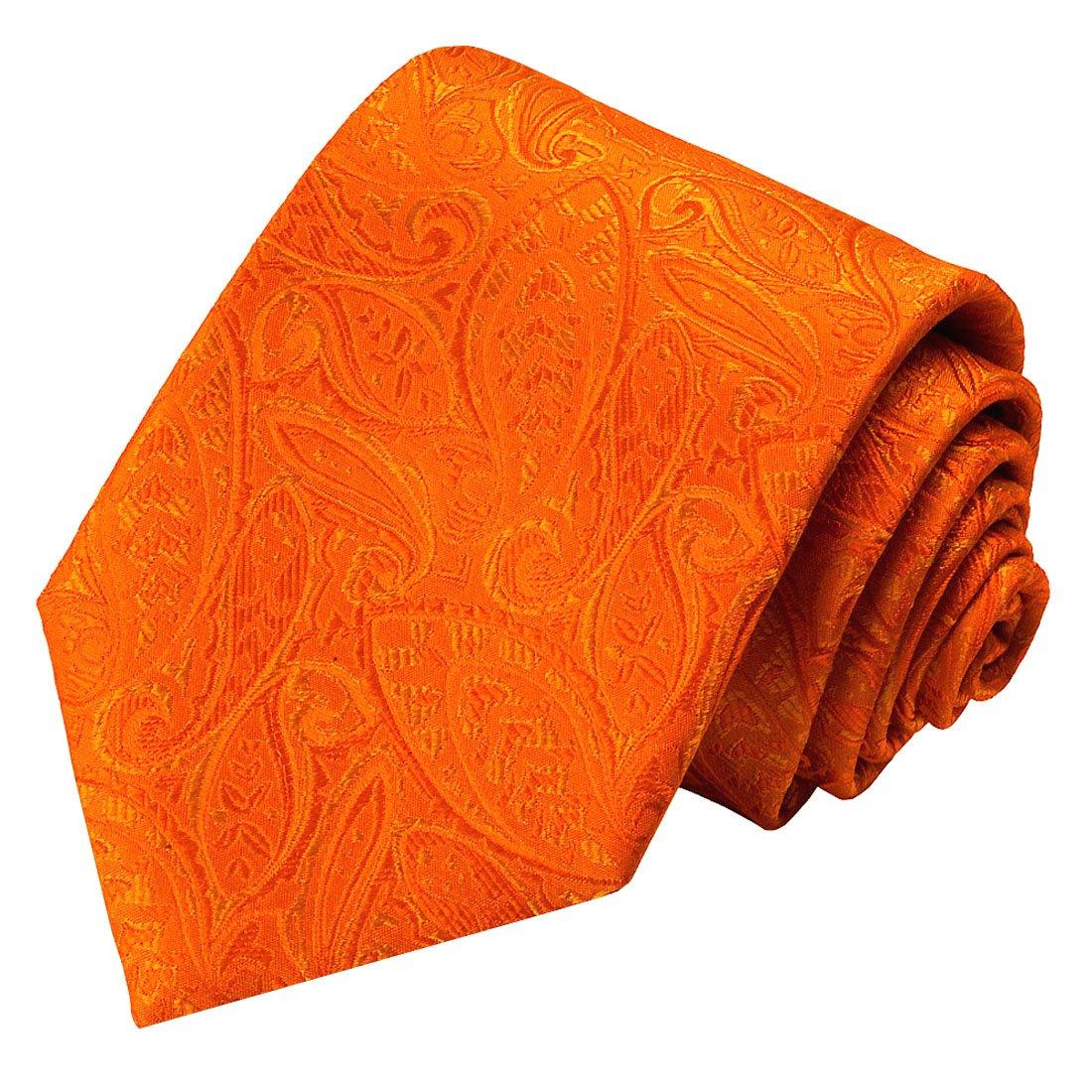 LORENZO CANA - Original marcas corbata de seda 100% - Naranja ...