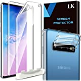 5 Pack LK 2 Pack Screen Protector + 3 Pack Camera Lens Protector Compatible with Samsung Galaxy S10,In-Display Fingerprint Su