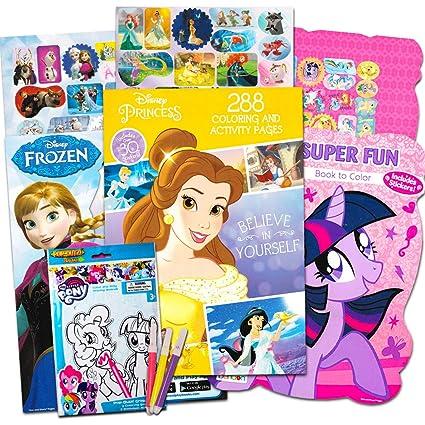 Amazon.com: Disney MLP Coloring Book Super Set for Girls -- 4 Giant ...