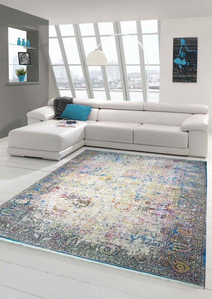 Designer und Moderner Teppich Vintage-Design Multi Größe 160x230 cm