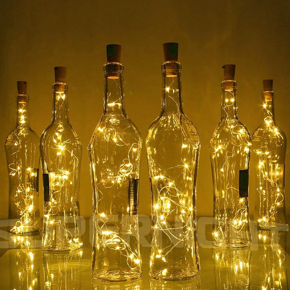 10 15 20LED LED Solare Rame Sughero Filo Luci Bottiglia di Vino per Natale