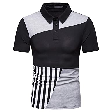 e04d029018 GUANGXINNI 2019 New Summer Men's Polo Patchwork Casual Short Sleeve Polo  Shirt Men Fashion Polos,