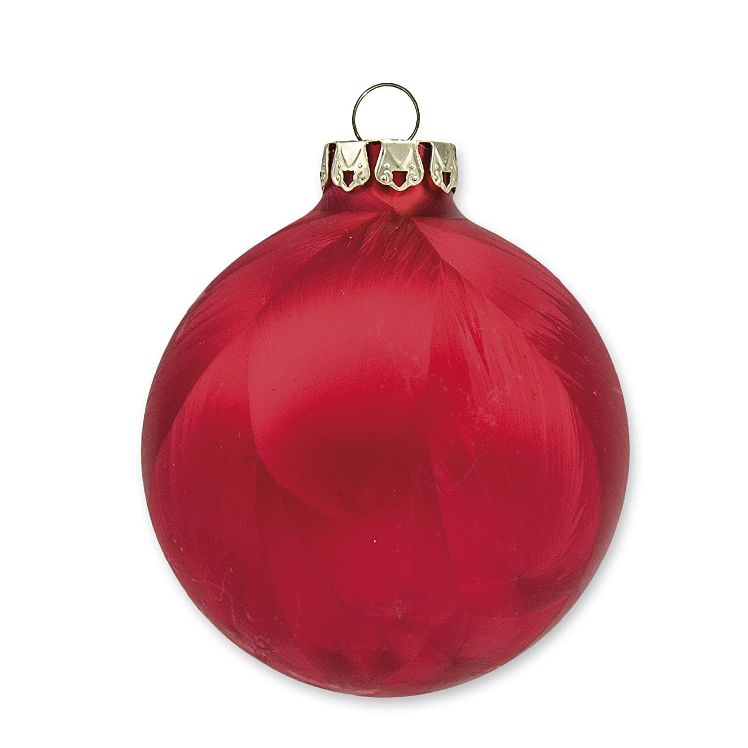 Ice-Red Collection 6x8cm Glass Christmas Balls 6x7cm Handmade Christmas Ornaments 2.75 2.35 3.15 Made in Germany 18 pc Set 6x6cm