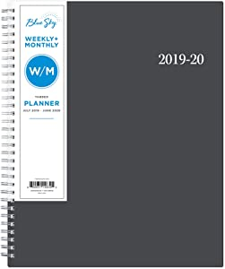 """Blue Sky 2019-2020 Academic Year Weekly & Monthly Planner, Flexible Cover, Twin-Wire Binding, 8.5"""" x 11"""", Enterprise"""