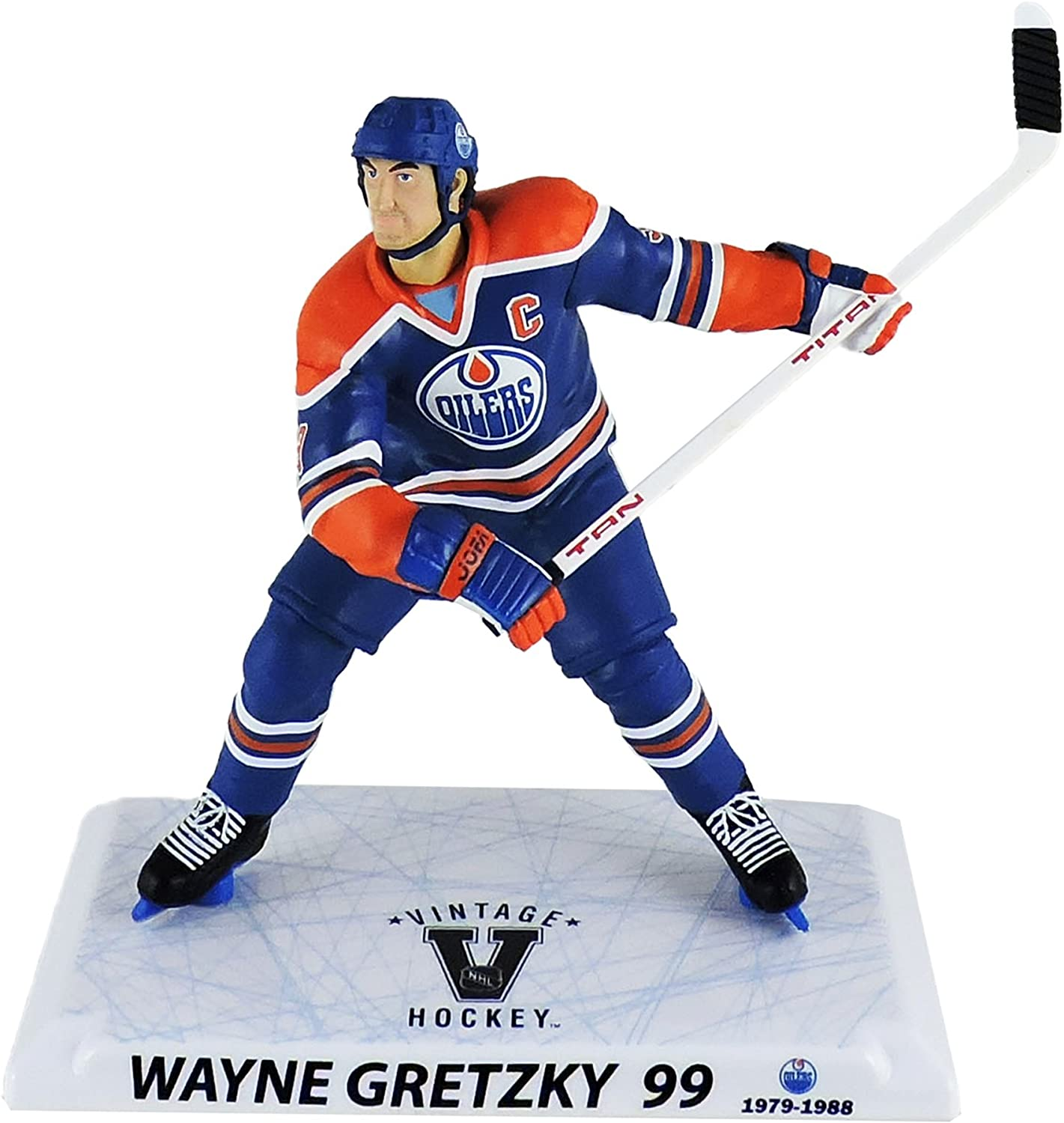 "McFarlane Sports NHL Hockey  12/"" Series 1 Gretzky Oilers Action Figure"