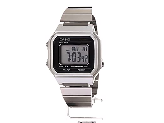 f5ee3dcf27f3 Casio Classic - Reloj casual de cuarzo de metal y acero inoxidable para  hombre