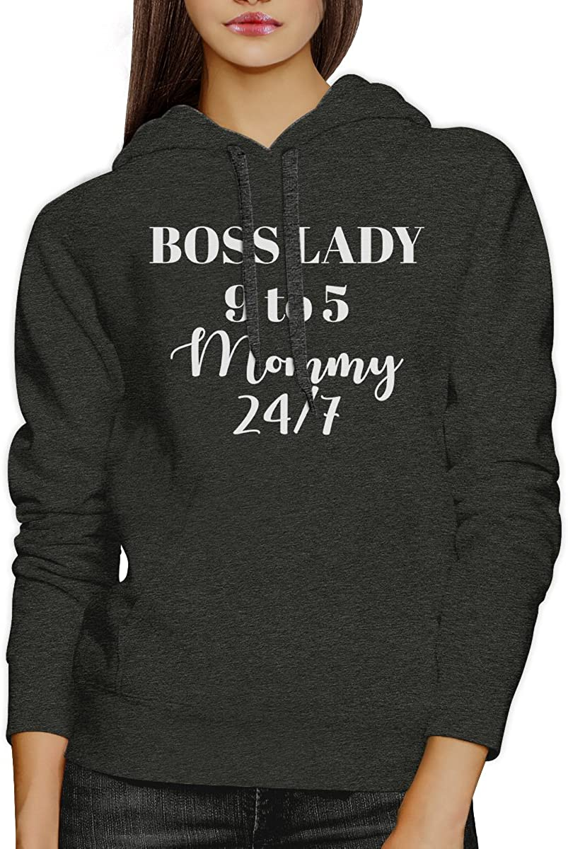 365 Printing Boss Lady Mommy Unisex Witty Hoodie Humorous Gift for Her