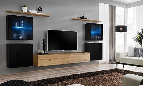 Domadeco Soho 14 - Mueble de pared para salón, diseño ...