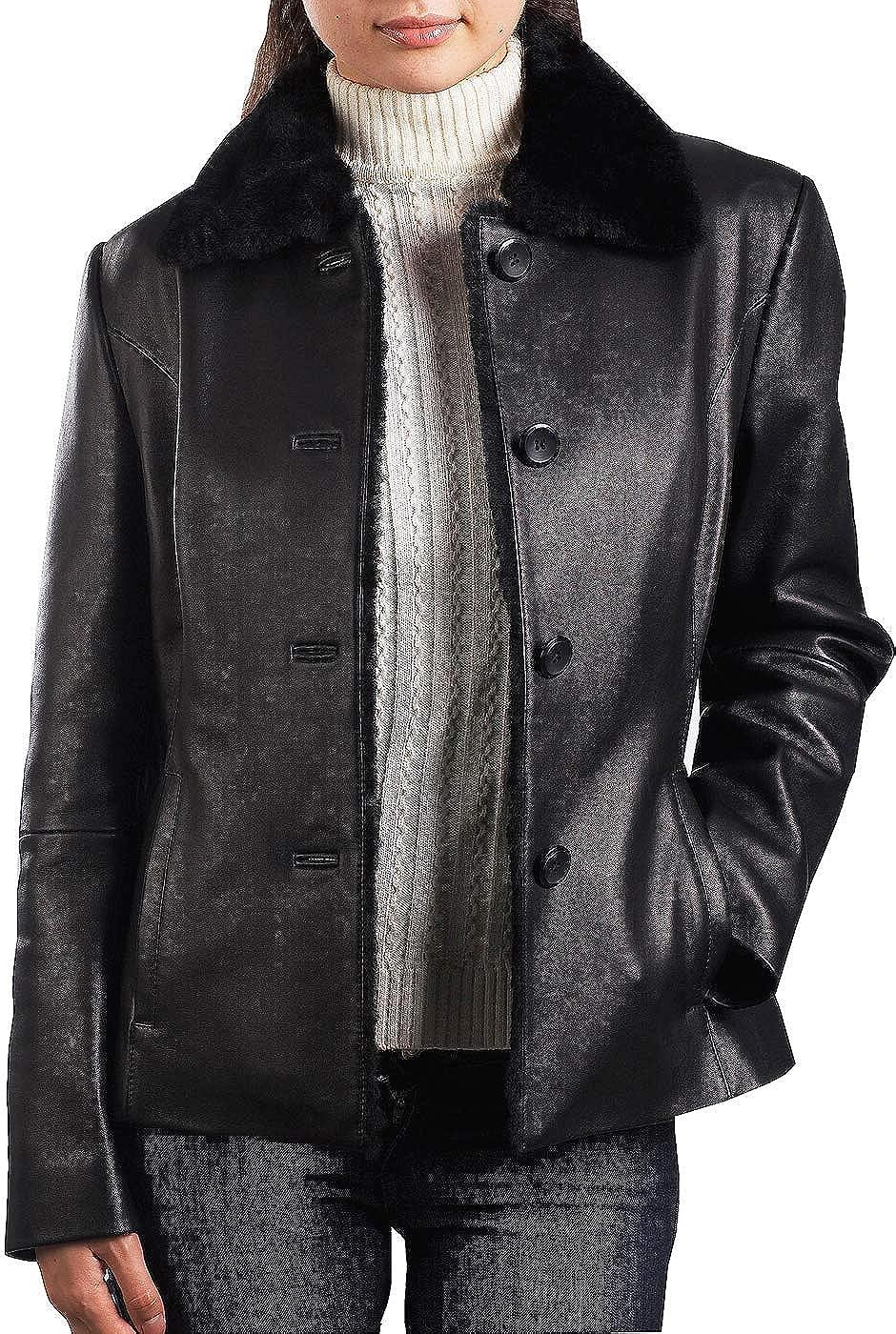 BGSD judd un bouton hommes veste de cuir d'agneau: