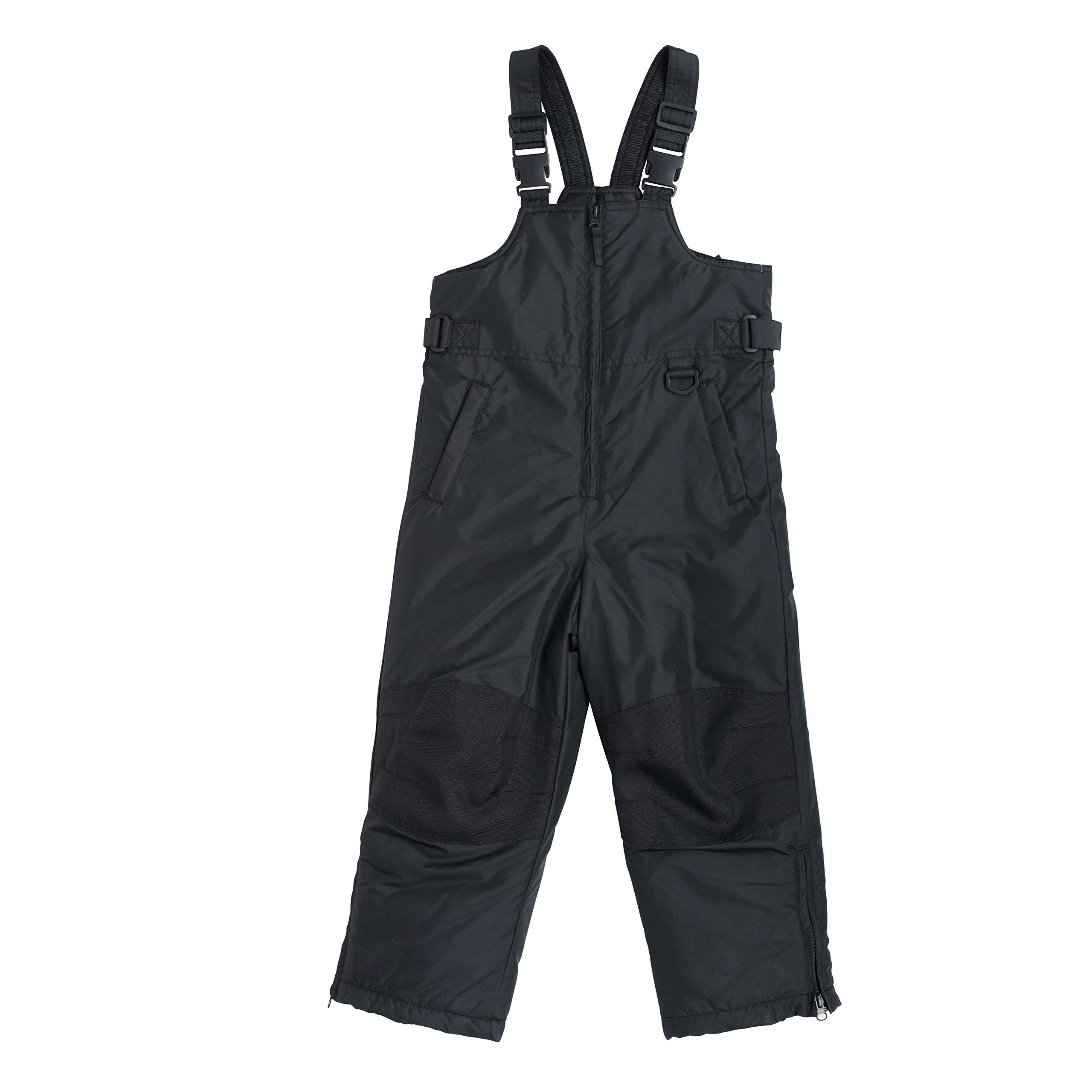 Snowsuits for Kids Husky Insulated Bib Snow Pants Black (12-14 Husky)